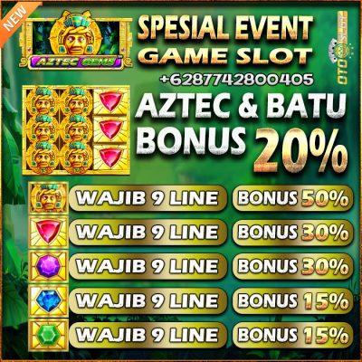 Event Permainan Aztec Gems Di OTOSLOT Periode Oktober 2021