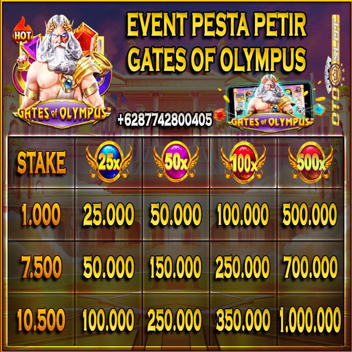 Event Permainan Bola Petir Gates Of Olympus di OTOSLOT